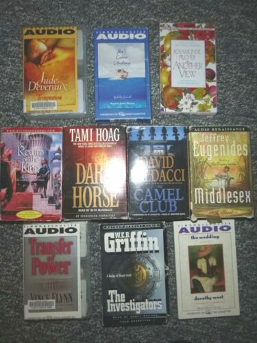 Lot of 10 Audio Books on Cassette Tapes Mixed Genres
