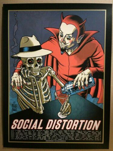 2018 SOCIAL DISTORTION DEVIL CONCERT US TOUR CANADIAN TOUR POSTER LTD ED OF 150