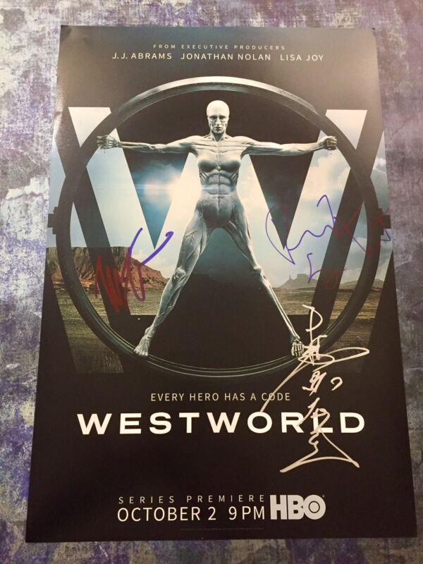 GFA Tessa Thompson Rodrigo * WESTWORLD * Cast x3 Signed 12x18 Photo Poster B COA
