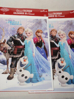 Lot of 2 Hallmark Disney Frozen Advent Calendar