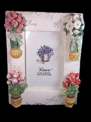 Heavy resin 3D photo frame flower vases Rose Tulip Daisy Amaryllis Linco