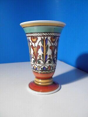Schöne alte Kästner Saxonia Porzellan Vase mit Handmalerei  * 15cm *