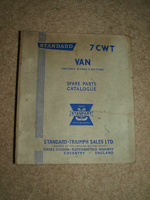 Standard 7 CWT Van Spare Parts Catalogue. 511411.