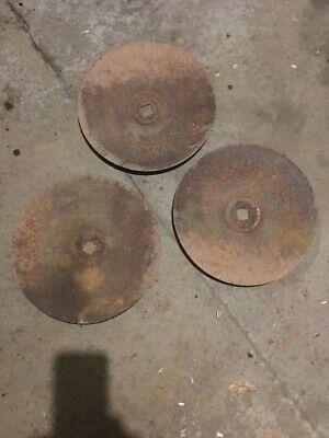 Three 15 Disc Harrow Blades