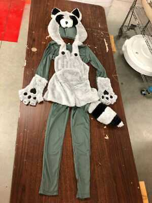 Raccoon Girl Costume (GIRL'S RACCOON JUMPER HOODIE COSTUME SIZE)