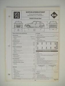 fiche technique r gla 39 tech revue l 39 expert automobile peugeot 205 turbo diesel ebay. Black Bedroom Furniture Sets. Home Design Ideas