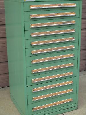 Stanley Vidmar 12 Drawer Tool Tooling Storage Cabinet 59 X 30 400 Lb Draw Cap