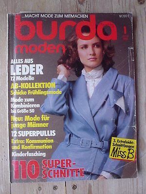 80er Mode Kinder (BURDA MODEN 86/01 Kinderfasching Alles aus LEDER 80er Kommunion Konfirmation top)