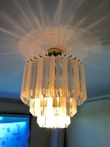 BEAUTIFUL FROSTED GLASS CHANDELIER FOR SALE