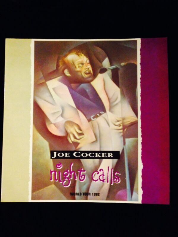 JOE COCKER 1992 NIGHT CALLS TOUR CONCERT PROGRAM TOUR BOOK