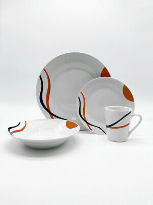 Plates And Cups (Set of 16 Premium Dinner Plates, Bowls and Cups Dinnerware)