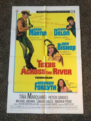 TEXAS ACROSS THE RIVER  Dean Martin Movie Poster