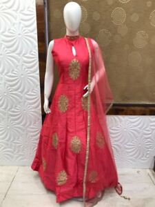 Indian ladies karva chauth dress red mehroon pink rani Anarkali