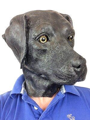 Schwarzer Labrador Hund Maske Latex Labor Köter Retriever Kostüm (Labrador Retriever Kostüm)