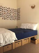 GREAT condition: Queen size mattress + Karton bed frame Carlton North Melbourne City Preview