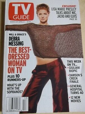 April 2003 Tv Guide Debra Messing Best Dressed Sexy No Label On Cover