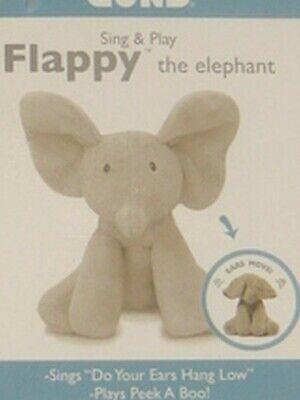 "NEW BABY GUND""FLAPPY"" ANIMATED/TALKING ELEPHANT PLUSH TOY #4053934"