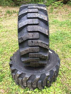 2 New Galaxy Xd2010 12-16.5 Skid Steer Tires For Bobcat Others 12x16.5 -12 Ply