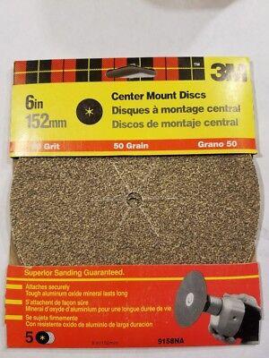 3m 6 Sanding Discs 50 Grit 5 Packs 9158na