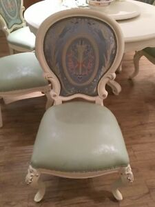 Solid white wood chair handmade