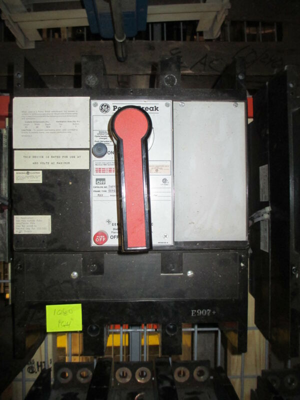 Ge Powerbreak Thpmm5616 1600a 3p 600v Mo Fixed Mount Circuit Breaker Used E-ok