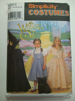 Wizard of Oz Wicked witch Dorothy Glinda costume pattern Girl's  6  7801](Glinda Wicked Costume)
