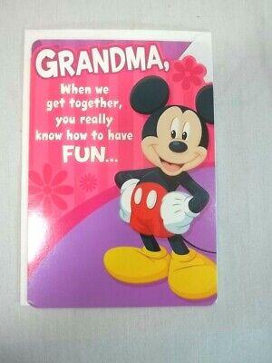 Mothers Day Card for Grandma Hallmark Disney Mickey Mouse](Mothers Day Cards For Grandma)