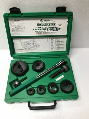 Greenlee 7238sb Manual Knockout Punch Set 12 To 2 Conduit Free Shipping