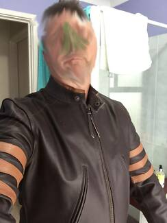 Mens Leather Motorcycle Jacket Redcliffe Belmont Area Preview