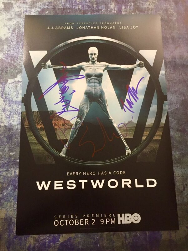 GFA Tessa Thompson Rodrigo * WESTWORLD * Cast x3 Signed 12x18 Photo Poster A COA