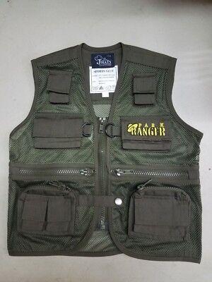 Child Park Ranger Vest Safari Explorer Zoo Keeper Cargo Vest Kids Size Md - Safari Ranger Kostüm