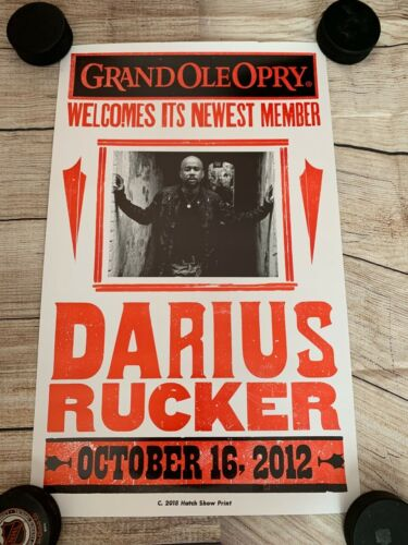 "Darius Rucker Grand Ole Opry Induction Poster 13.5""x22"" Country Music"