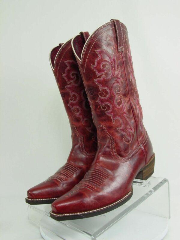 ARIAT ALABAMA Women 6.5-B Redwood Leather Western Horse Cowboy Boots