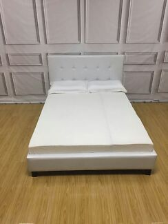 Brand New Sturdy Solid White Bed Frame Queen/Double