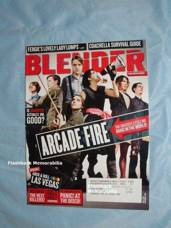 ARCADE FIRE 2007 BLENDER MAGAZINE Coachella DAUGHTRY Panic At The Disco VEGAS