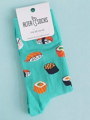 Mens and Womens Sushi Socks (1 Pair) Unisex - Size: UK 3.5-10)