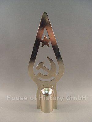 109254, Sowjetische Fahnenspitze,gestanzten Blech, mit Hersteller
