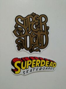 2-x-SUPERDEAD-SKATEBOARDS-STICKER-Pegatina