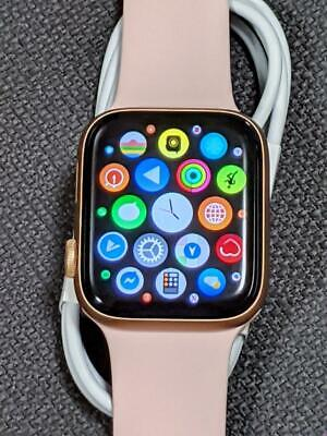 Apple Watch Series 5 44mm with WARRANTY Gold Aluminum Case Pink Sand Sport GPS