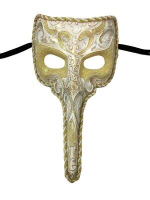 White Long Nose Bird Beak Zanni Plague Doctor Masquerade Venetian Mask