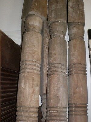 Victorian wood  Column turned Post porch Vintage
