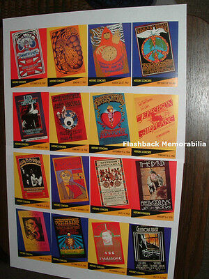 16 Pc. FILLMORE Posters PRO SET CARDS 1st Ed COMPLETE SET Hendrix ZEPPELIN Doors