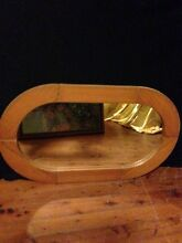 Beautiful oval wooden mirror Horseshoe Bend Maitland Area Preview