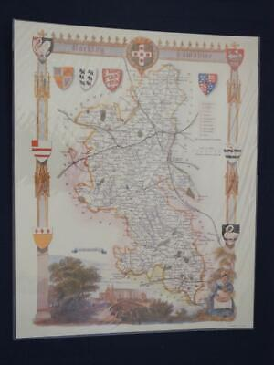 Reproduction Antique Map of Buckinghamshire 16 x 20 inches.