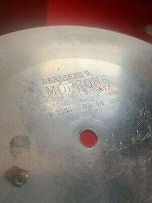 E Berliner's Gramophone 7 inch 78 rpm record 960ZZ Nov 8 1887 Tenting on the