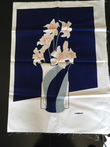 """Vintage Marushka Lilies in a Vase Canvas Print Approx. 37 x 26.5"""" Unframed NOS"""