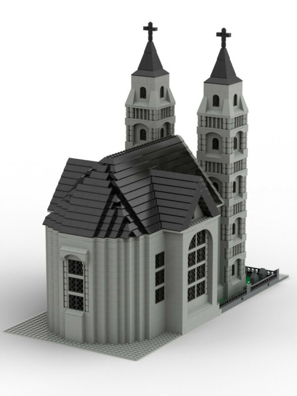 PDF files only! MOC Church// Cathedral costum LEGO building Instructions