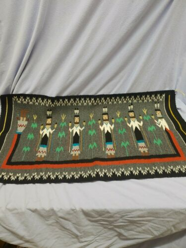 "Navajo Rug Yei Pattern  22"" x 40"""