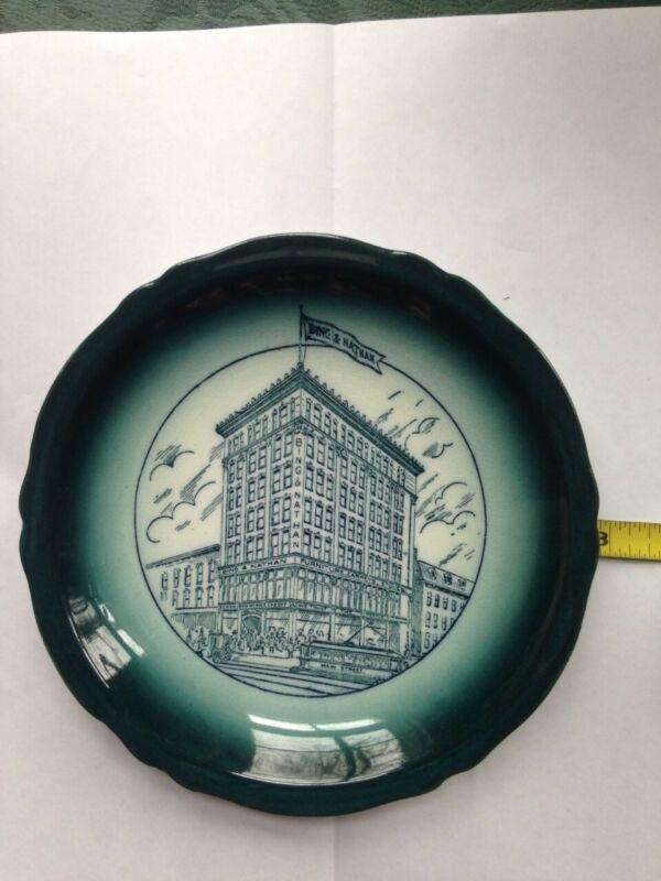 Buffalo Pottery Bing & Nathan Buffalo, NY Vintage Souvenir Plate Excellent