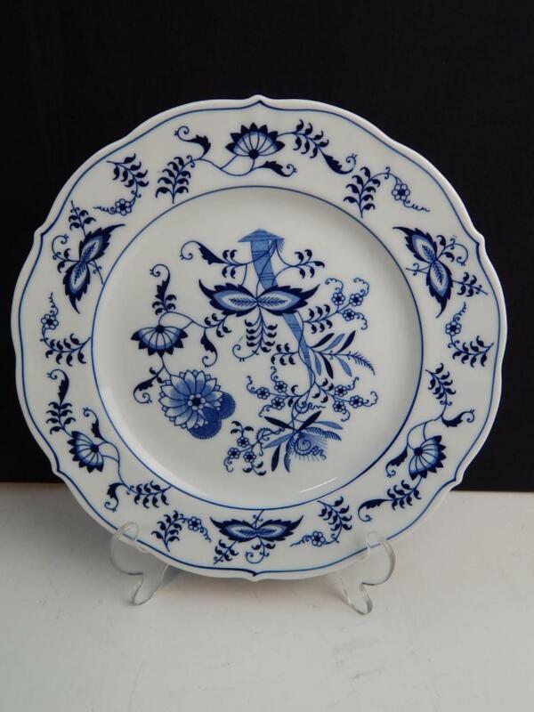 "Blue Danube Blue Onion 10 1/4"" Dinner Plate Rectangle Label"